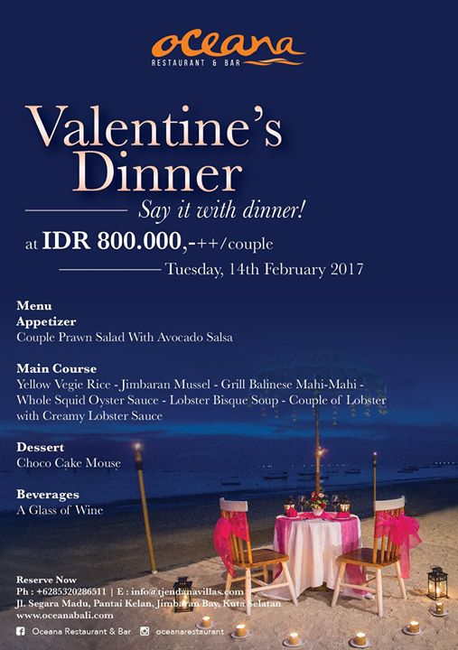Valentine's Dinner at Oceana Restaurant & Bar