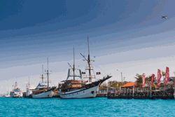Sailing ships in Benoa Bali