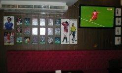 Football game on TV