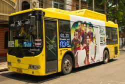 Air conditioned bus Bangkok