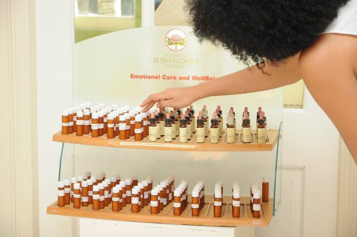 Homeopathic and flower remedies on display in our reception area are available for sale