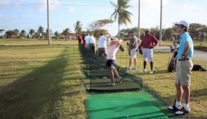 The driving range at Barbados Golf Club