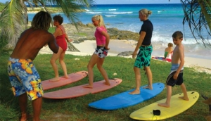 Surfing lessons with Zed's Surfing Adventures