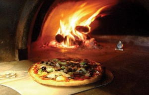 Bert's famous stone fired pizza