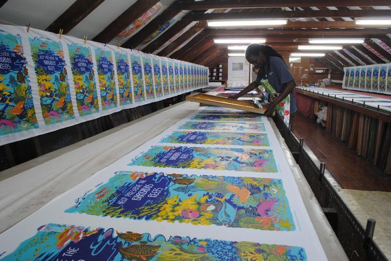Screen printing at Best of Barbados