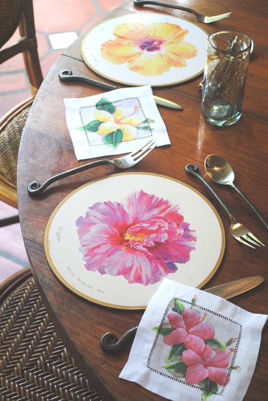 Hibiscus table setting