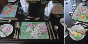 Floral place settings