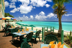 Restaurant and beach