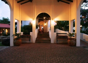Entrance in the evening