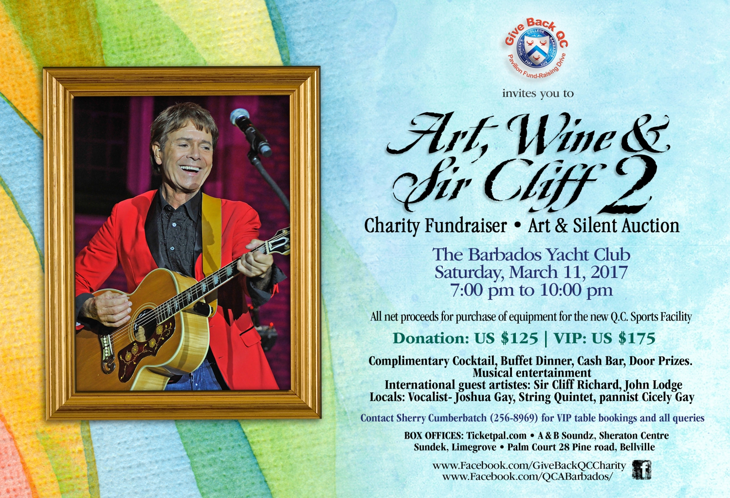 Art, Wine & Sir Cliff 2 Charity Fundraiser