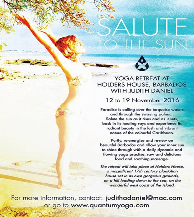 'Salute to the Sun' Yoga Retreat with Judith Daniel