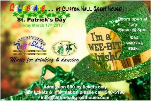 St. Patrick's Day - Sugarcane Jazz & Blues at Clifton Hall Great House