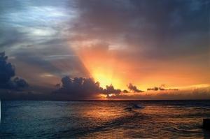 A glorious Barbadian Sunset