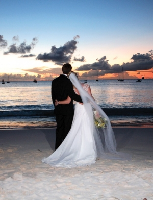 A romantic wedding in Barbados