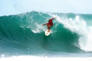 Barbados has excellent surfing conditions