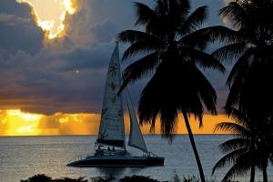 Enjoy a sunset cruise on a catamaran