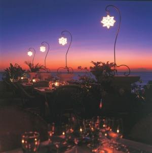 Fine dining at Cafe Luna at sunset