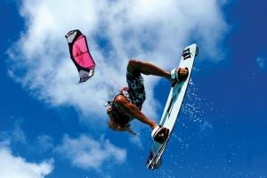Kitesurfing at Silver Sands