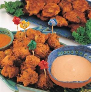 Salt fish cakes - a popular Bajan delicacy