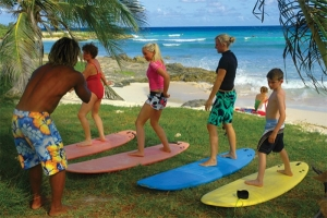 Surf lessons, great fun for all ages