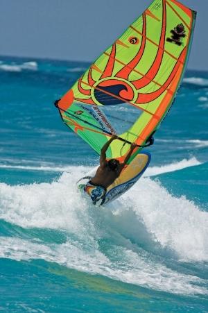 World-class Windsurfer Brian Talma in action