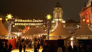Weihnachtsmarkt am Gendarmenmarkt.