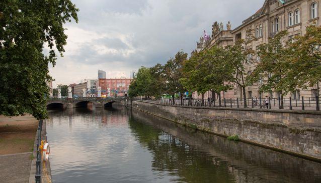 Walk along the river Spree