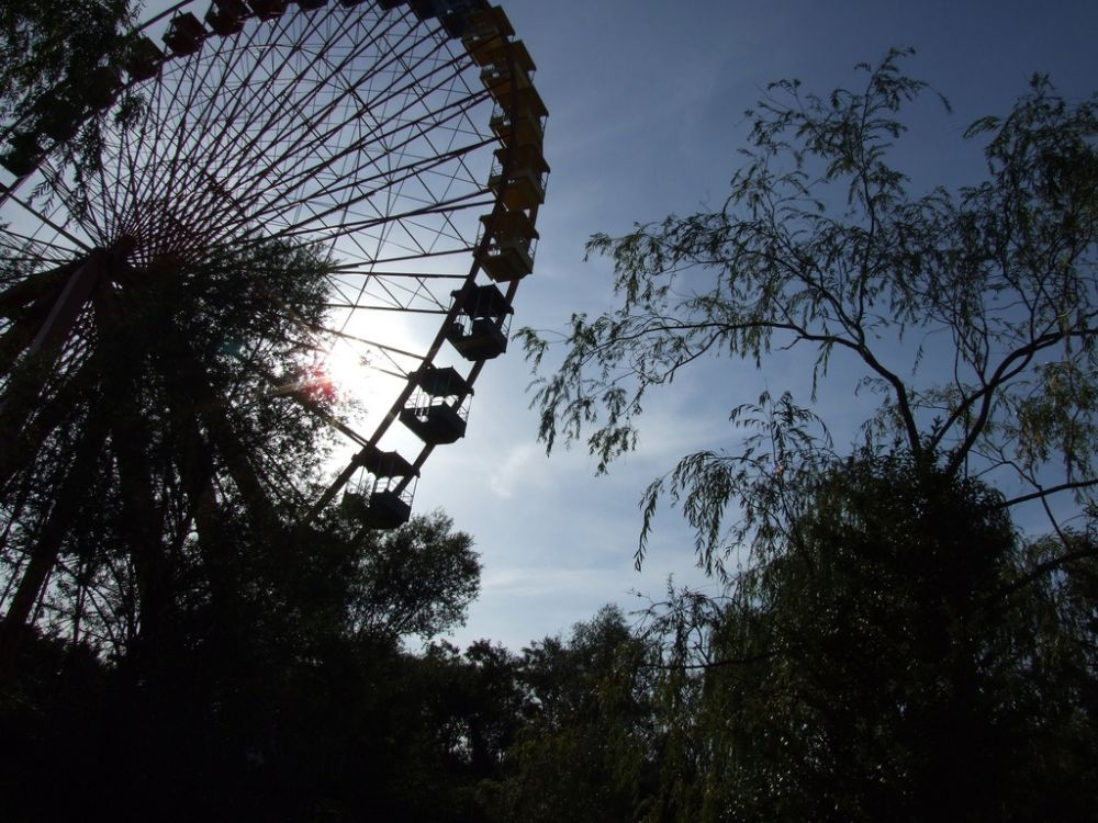 The Giant Ferris Wheel at Spreepark Berlin