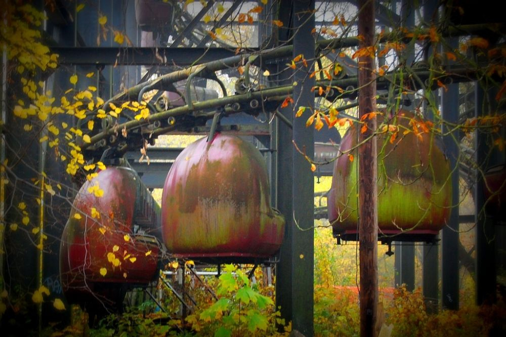 Abandoned rides at Spreepark in Berlin