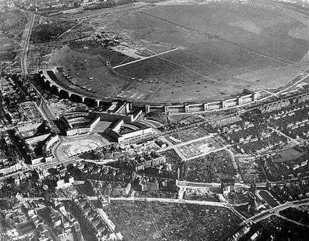 Aerial View of Tempelhof Airport in 1945