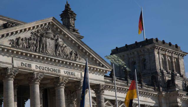 The Reichstaggebäude (the German Parliament Building)