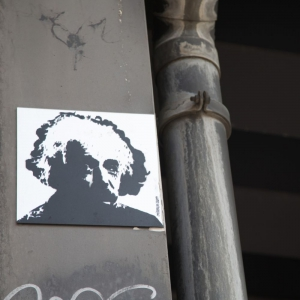 Einstein hides in Alexanderplatz