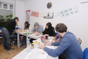 Hard at work at Anda Sprachschule