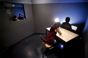 Replica Stasi interrogation room ©DDR Museum