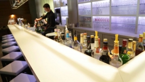 The well stocked bar serves everything from coffee, to beer, wine and mixed drinks.