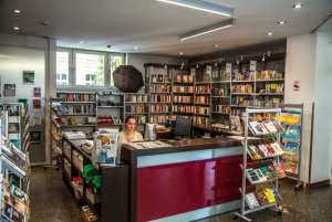 The library and bookshop!