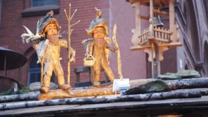 Lovely wooden characters at the Lucia Weihnachtsmarkt