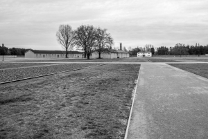 Sachsenhausen Memorial, main entrance in the distance