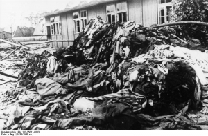 Clothing belonging to murdered prisoners, Sachsenhausen Concentration Camp 1936. Image courtesy of the Bundesarchiv Bild 183-35011-0003 / CC-BY-SA
