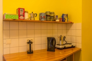 Sprachsalon's kitchen - where students can dose up on caffeine before or during class