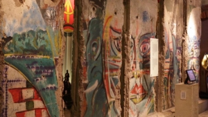 Five original pieces of the Berlin Wall
