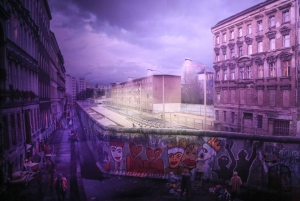 Both sides of the Berlin Wall