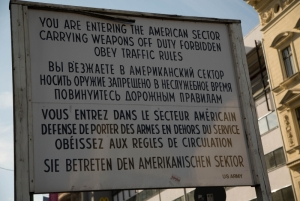 The famous sign at Checkpoint Charlie in Berlin