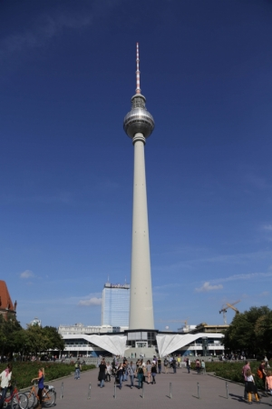 The Fernsehturm at Alexanderplatz