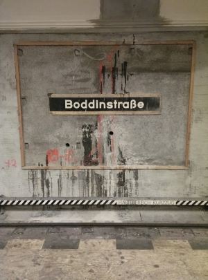 U-Bahn Station Boddinstraße under contruction