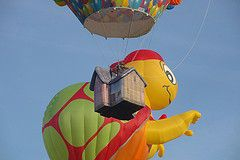 "The ""Up"" balloon and turtle balloon at the Bristol Balloon Fiesta. Credit Flickr: mattbuck4950"