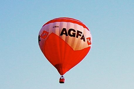 A balloon in flight