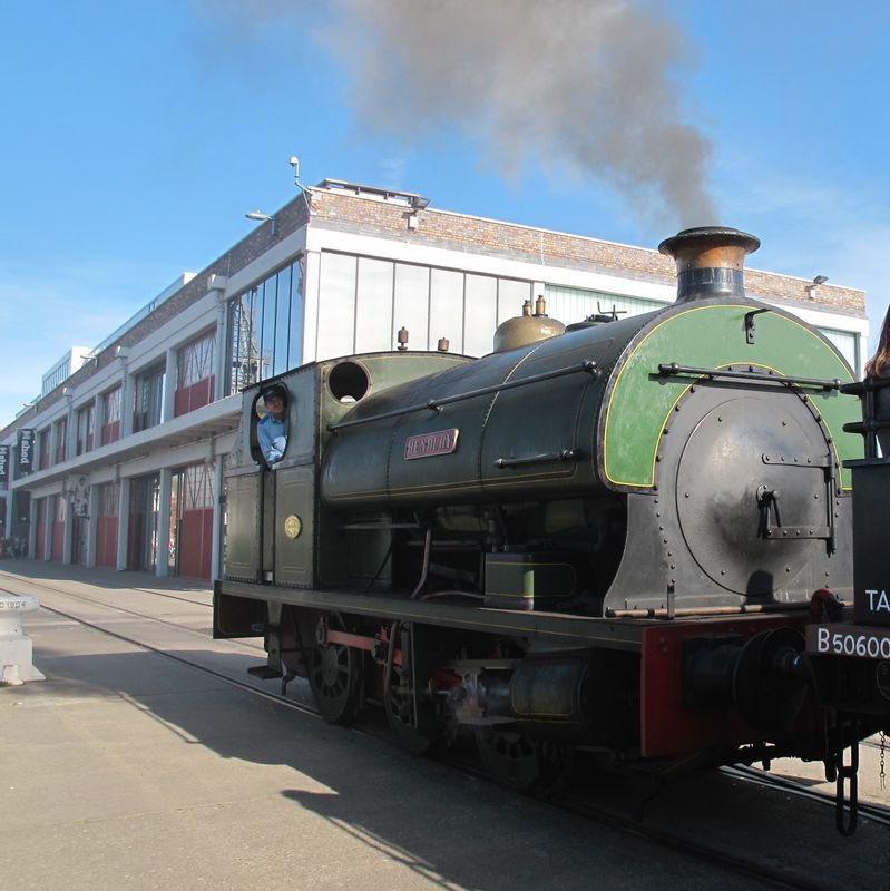 A traditional steam train