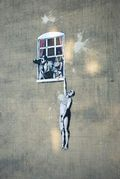 The Hanging Man by Banksy on Frogmore Street. Credit: N Hindmarch