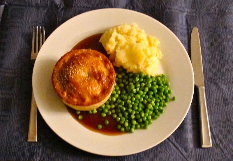 Classic pie and mash